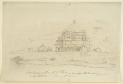 N.W. view of Sher Shah's Tomb, Sasaram (Bihar). 6 January 1814